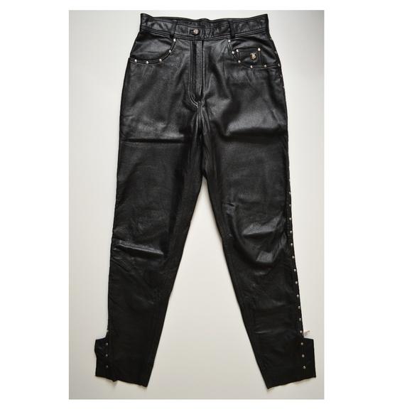 d03fdf21a Harley-Davidson Pants - Harley Davidson Womens Studded Black Leather Pants
